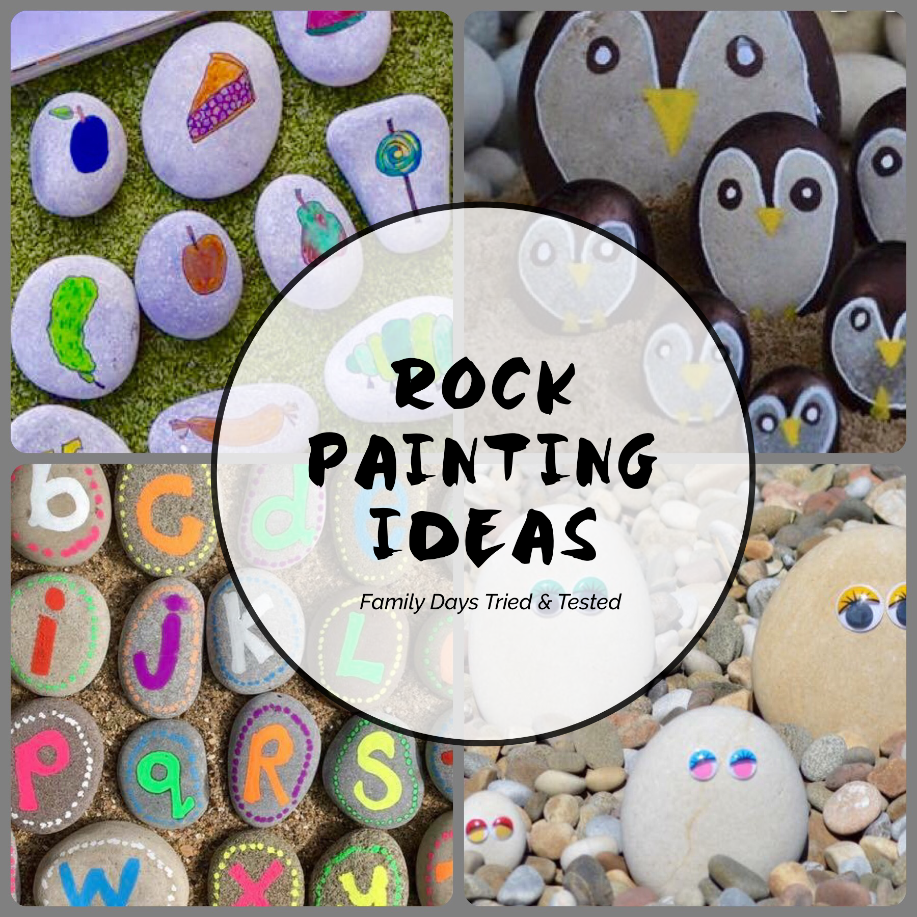 Awesome And Easy Rock Painting Ideas For Family Fun