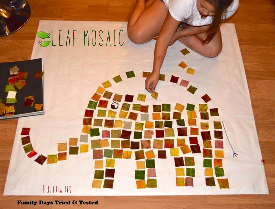mosaic leaf art