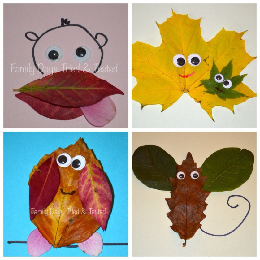 Leaf collecting, art and play