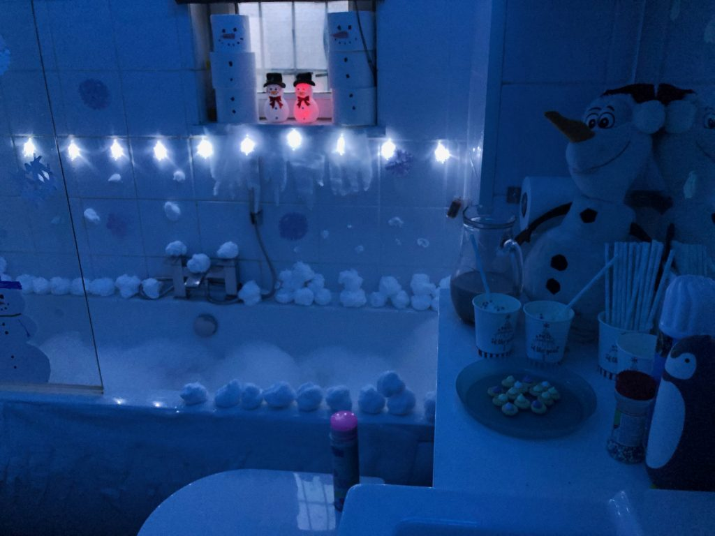 Winter Wonderland Themed Bath