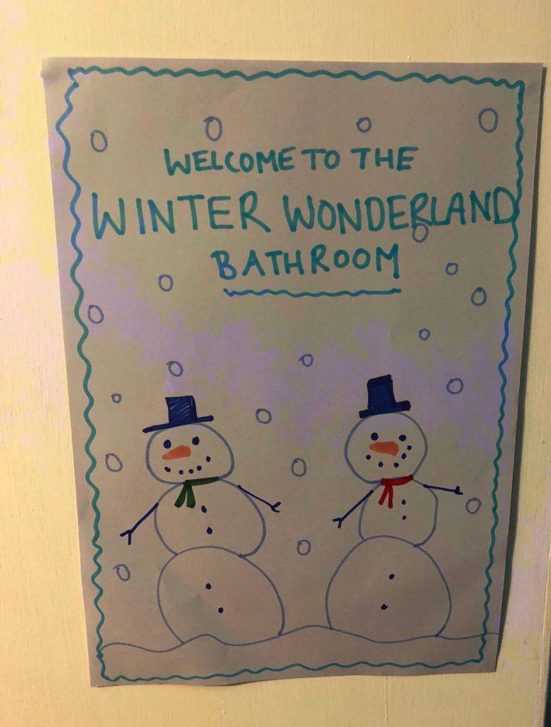 Winter Wonderland Themed Bath