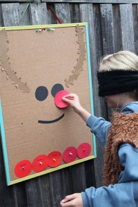 Pin The Nose On Rudolph - school fundraising ideas