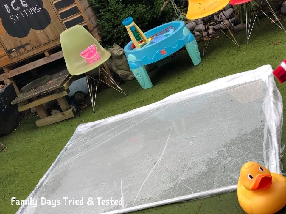 Homemade Garden Ice Rink