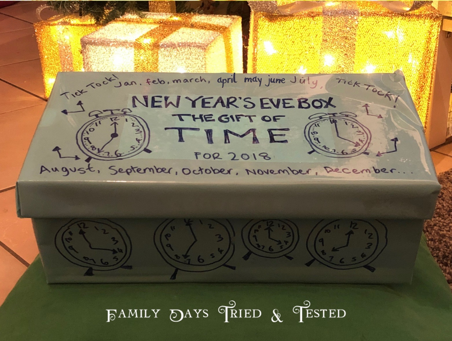 Gift Of Time – New Year's Eve Box - Family Days Tried And ...