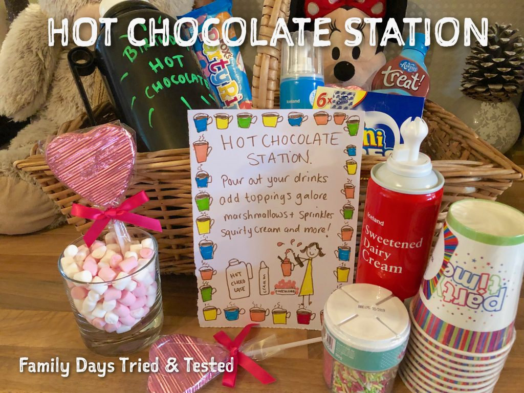 Sleepover Ideas - Hot Chocolate Station