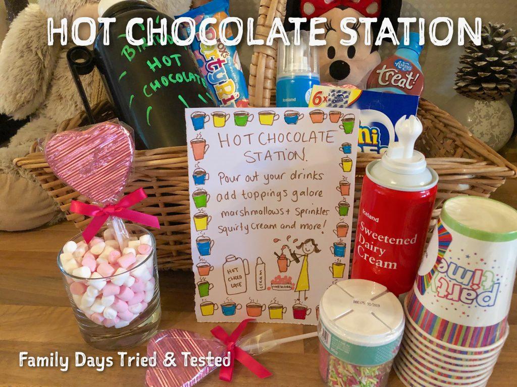 Sleepover Ideas - Hot Chocolate Station