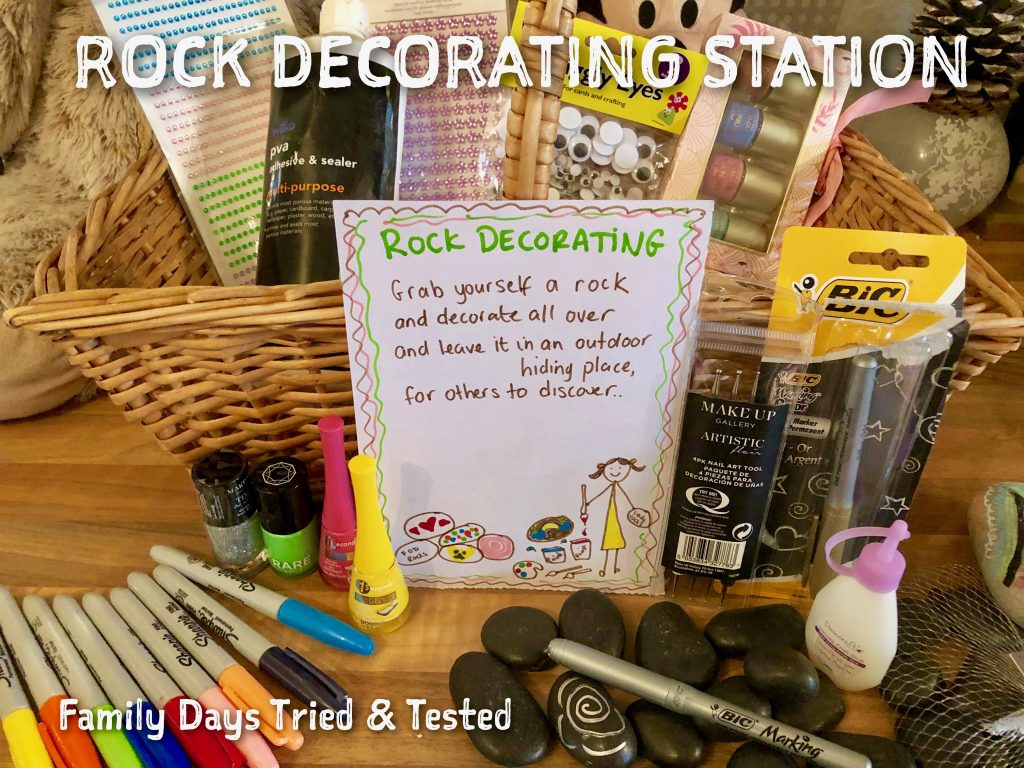Sleepover Ideas - Rock Decorating Station