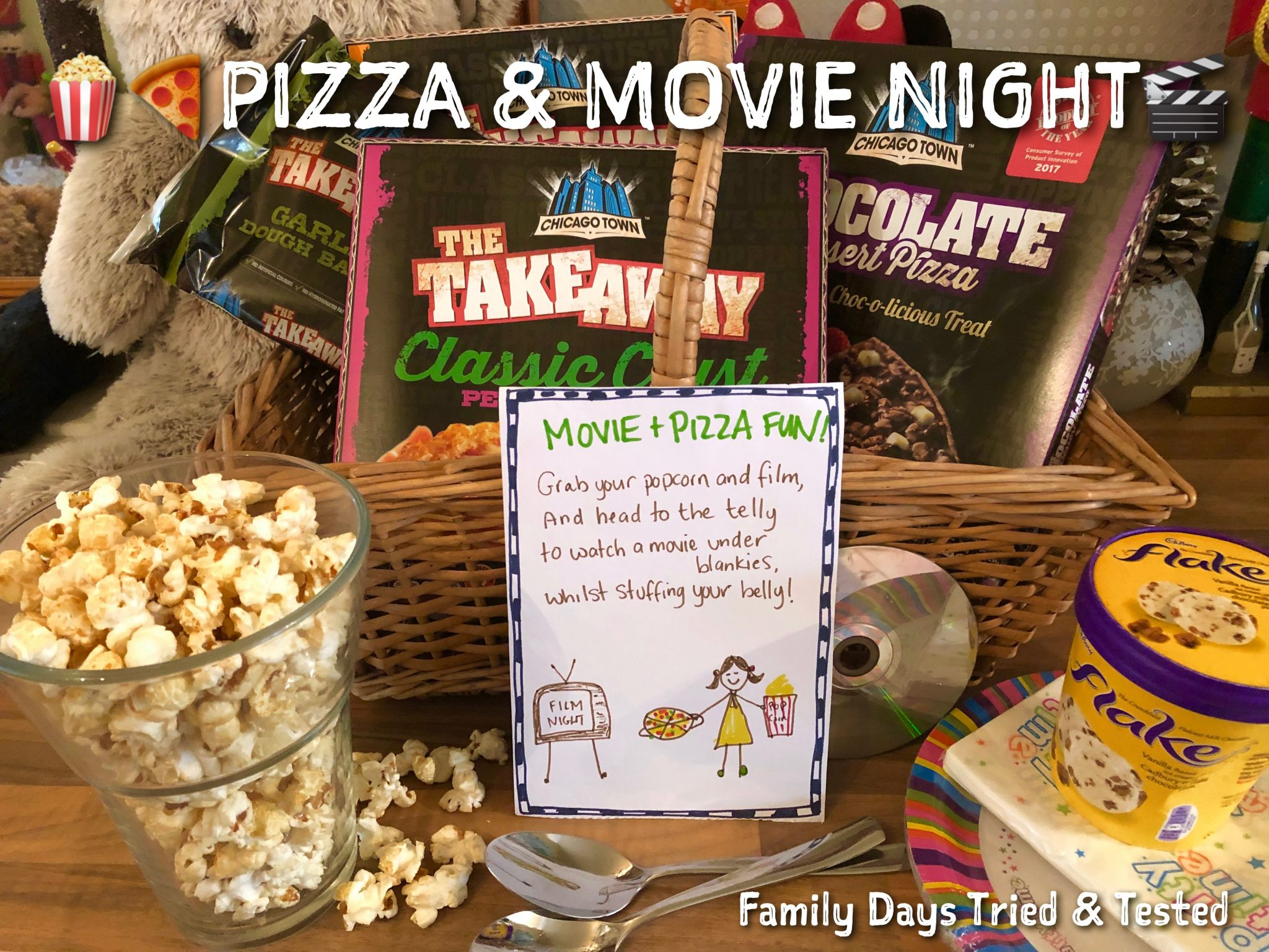 Sleepover Ideas - Pizza and Movie Night