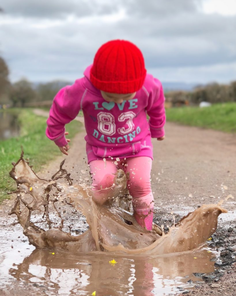 Family fun things to do at Bluestone - jump in puddles