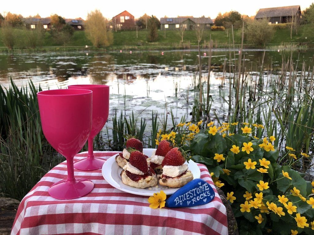 Family Fun Things to do at Bluestone - cream tea by the lake