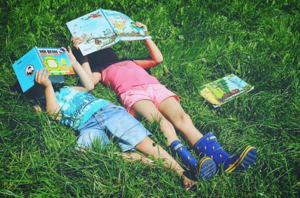Family Fun Things to do at Bluestone - read books on the grass