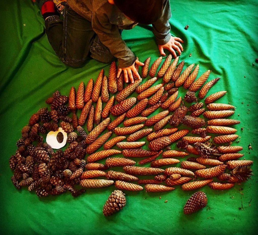 Family Fun Things to do at Bluestone - nature art