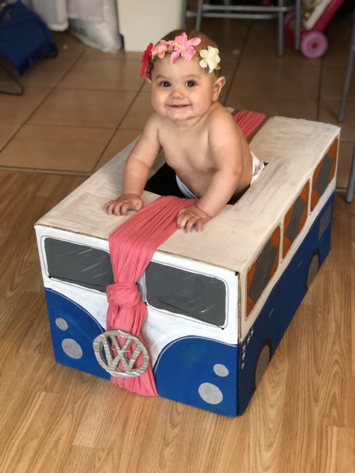 Camper Van Box Baby Walker