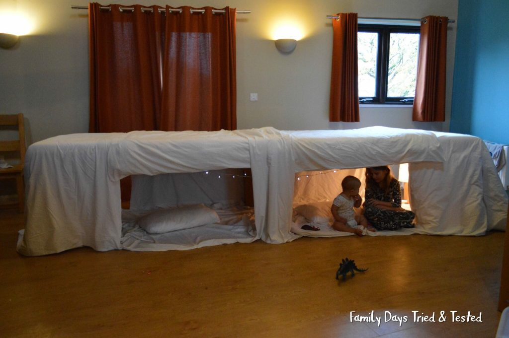 Family Fun Things to do at Bluestone - under-table reading den
