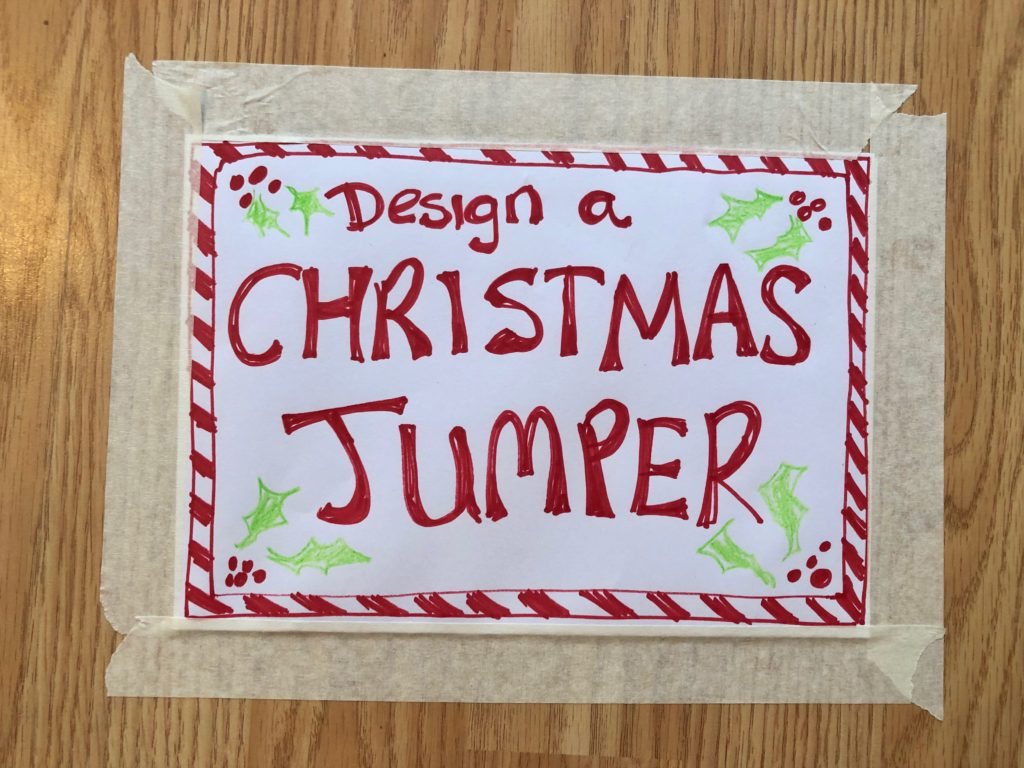 Making Christmas Jumpers with Toddlers