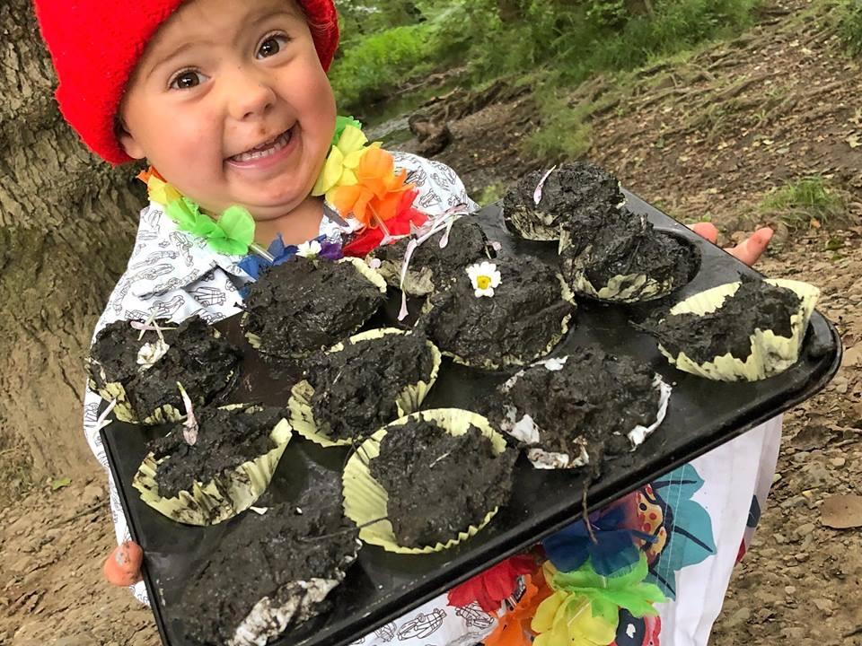 Mud Pie Cake Making