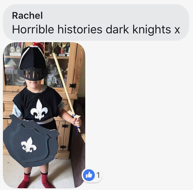 World Book Day costume ideas - Knight