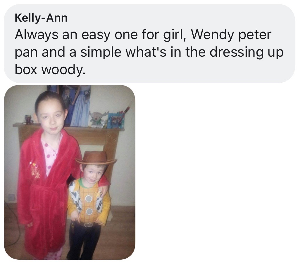 World Book Day costume ideas - Wendy from Peter Pan