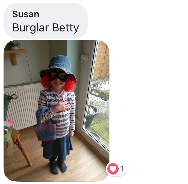 World Book Day costume ideas - Burglar Betty