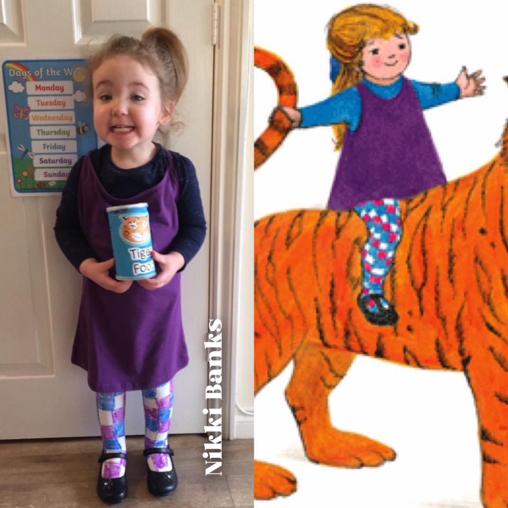 World Book Day costume ideas - Tiger Who Came to Tea