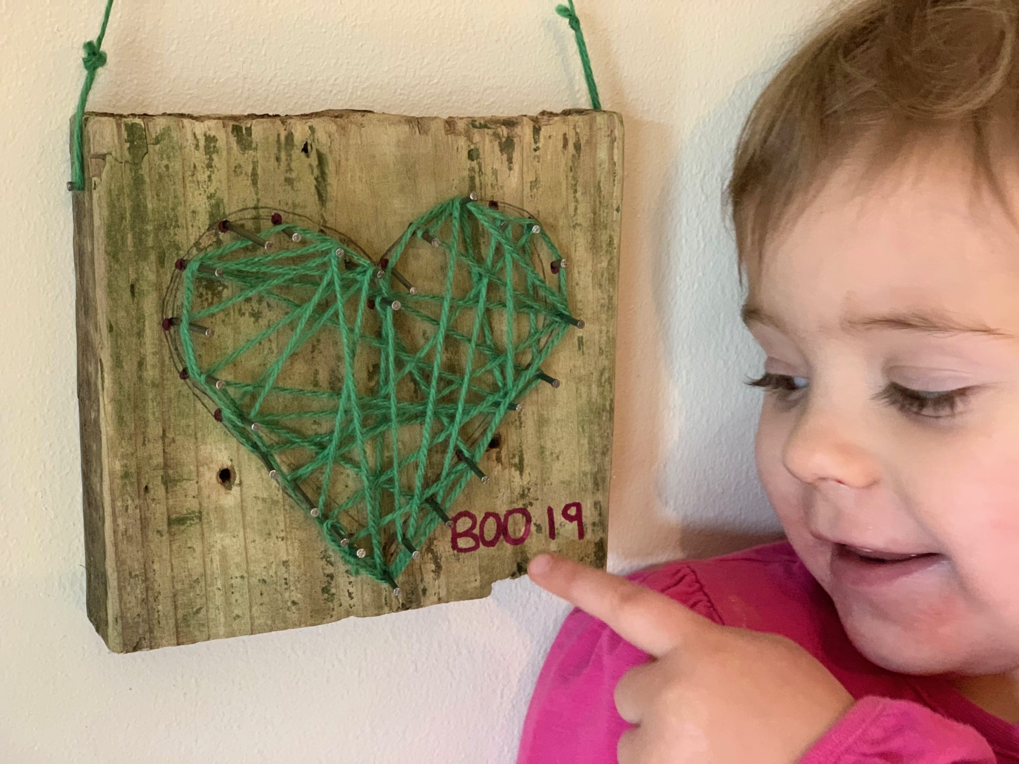 Nail And String Art Heart