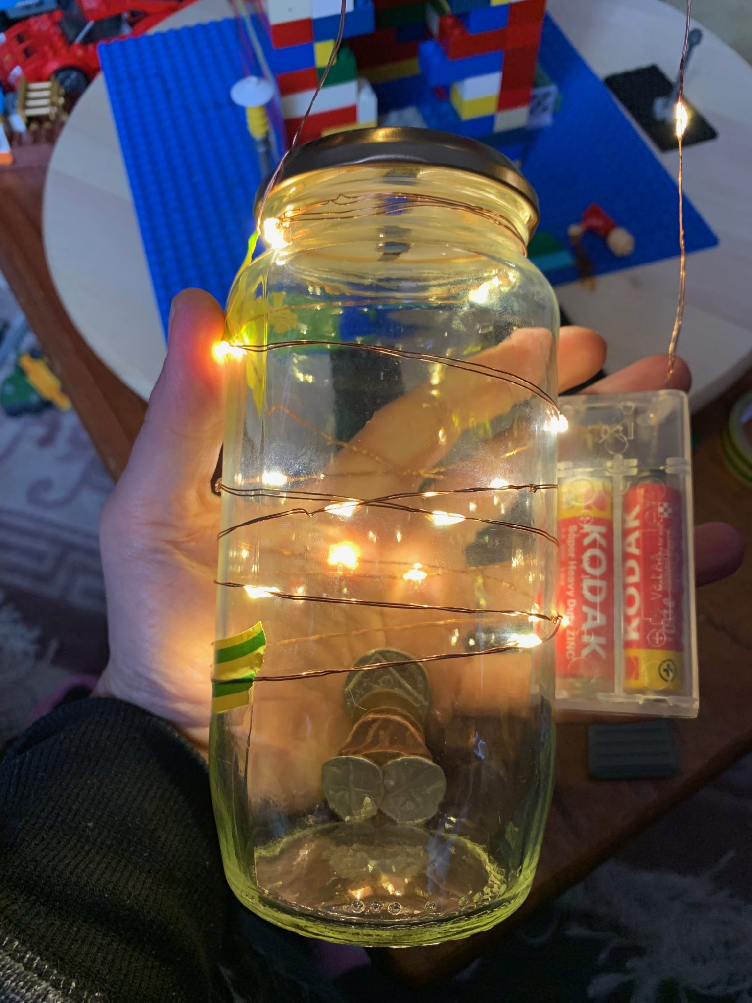 Light-up LEGO Money Bank